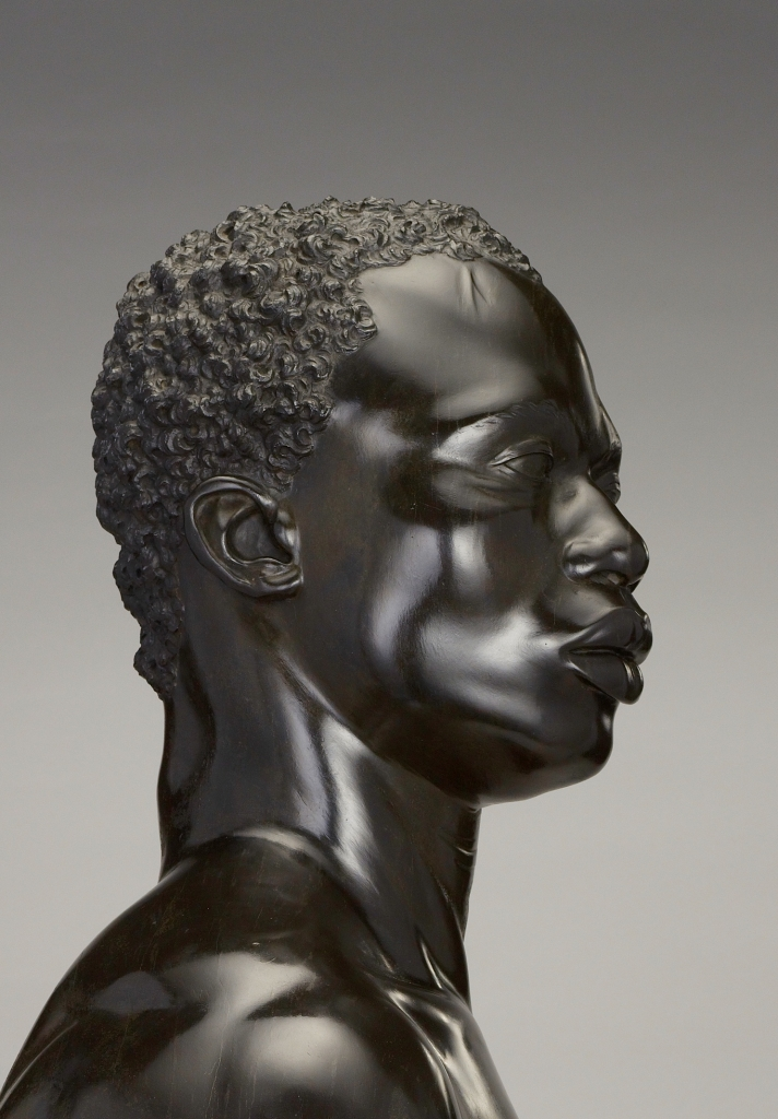 Bust of a Man; Francis Harwood (English, 1726/1727 - 1783); Florence, Tuscany, Italy; 1758; Black stone (pietra di paragone) on a yellow Siena marble socle; 69.9 × 50.2 × 26.7 cm, 52.6173 kg (27 1/2 × 19 3/4 × 10 1/2 in., 116 lb.); 88.SA.114